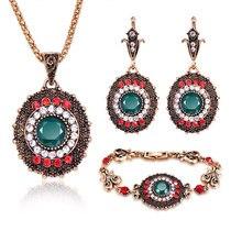 Jewelry Sets Fashion Women Vintage Necklace Earring Bracelet Jewellery sets  Accessories For Women Set