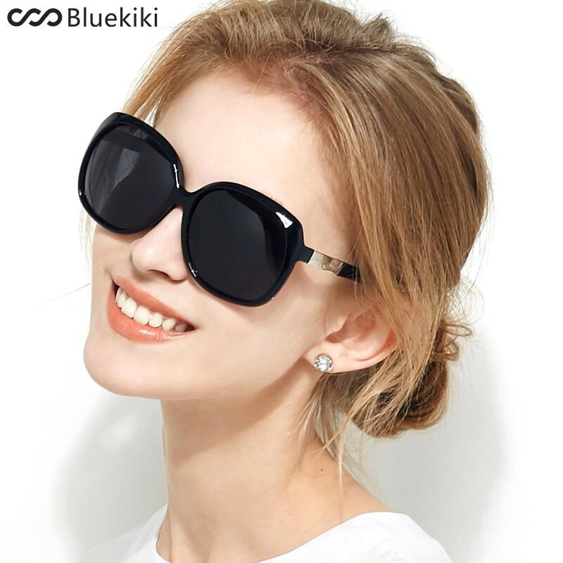 088df1f619d0c KIKI Women Polarized Sunglasses Retro Big Round PC Frame Brand Design Black  Sun Glasses Luxury Ladies Driving gafas de sol mujer-in Sunglasses from  Apparel ...