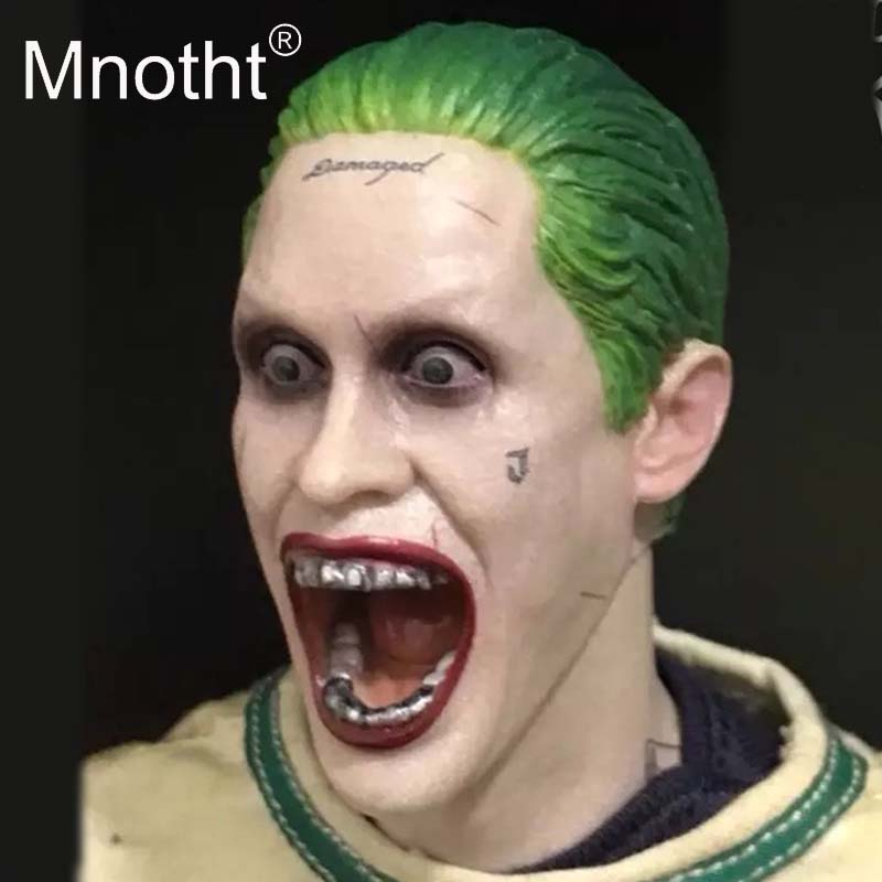 Joker Leto Head Carving 1:6 Scale Male Soldier Head Sculpt for Action Figure Toys Collection Animation Movie Resin Model MnothtJoker Leto Head Carving 1:6 Scale Male Soldier Head Sculpt for Action Figure Toys Collection Animation Movie Resin Model Mnotht