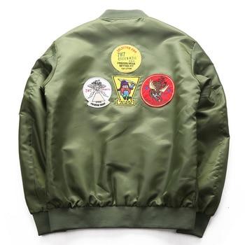 DIMUSI Bomber Jacket Mens  Ma-1 Flight Jacket Pilot Air Force Male Ma1 Army Green Military motorcycle Jacket and Coats 6XL,TA039 5