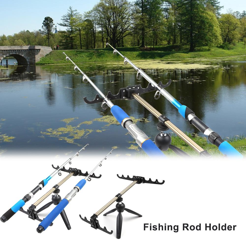 Fishing Rod Holder Aluminum Alloy Fishing Pole Pod Bracket Fishing Rod Stand Fishing Holder For Rod Tackle Fishing Accessory