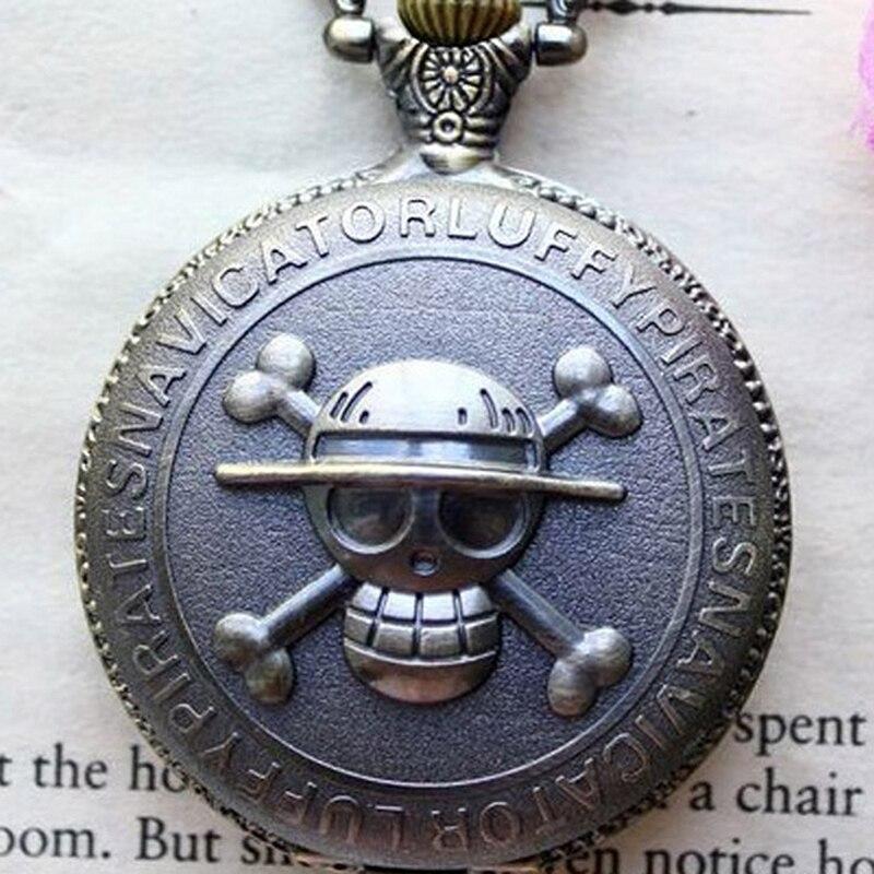 Nueva venta caliente Pirate Cross Skull Head Watchcase Reloj de - Relojes de bolsillo