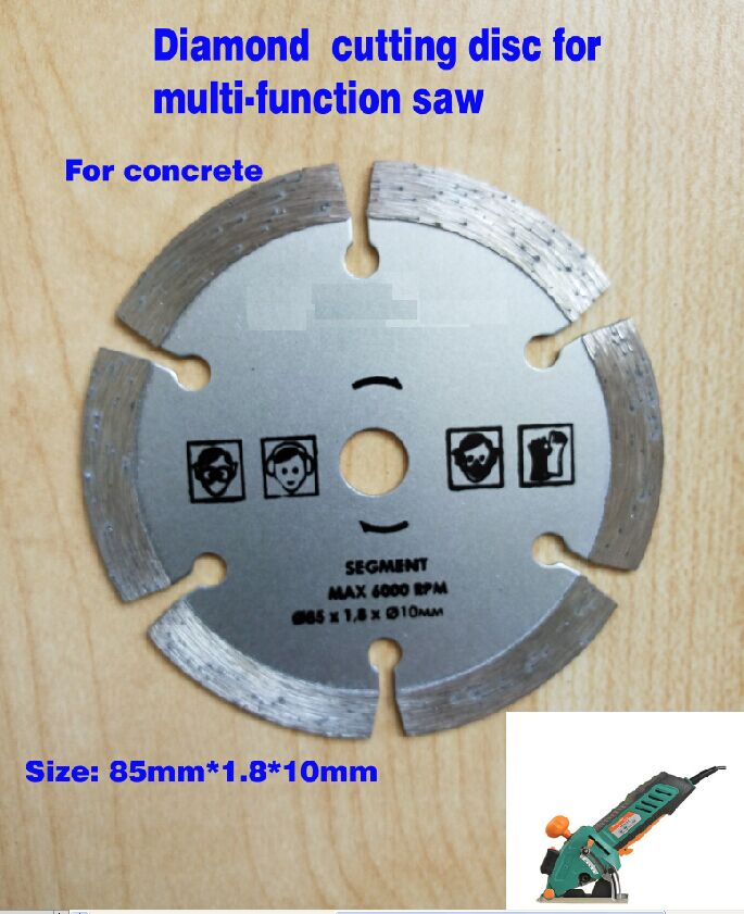 2pcs/lot  diamond segment cutting disc for multi function mini saw 85mm hole dia.10mm for concrete cutting circular saw blade 10pcs lot 3 3 8 inch diamond blades for electric mini circular saw accessories for multi function mini saw inner dia 15mm