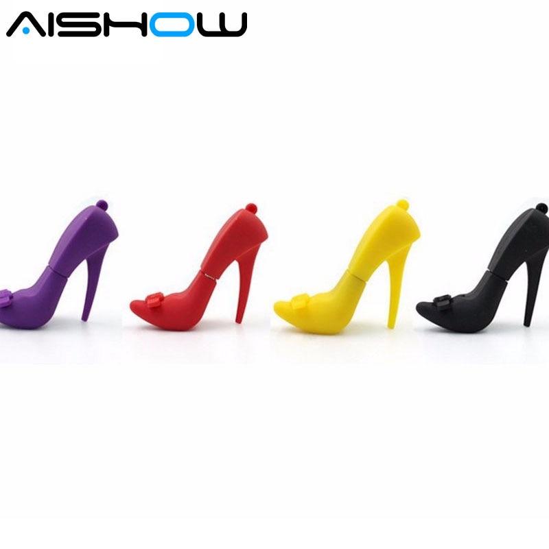 Free shippping !100% full capacity high-heeled shoes usb flash drive 2GB/4GB/8GB/16GB/32GB/64GB pen drive Memory Stick