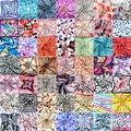PROMOTION2017 Fashion Silk womens small Square head scarf twilly Chiffon Spring summer scarves 50*50cm collar scarfs female