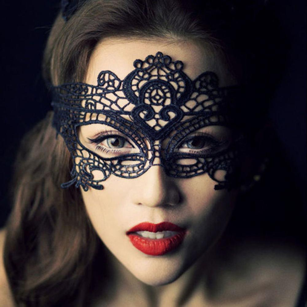 Costume Catwoman-Mask Halloween Masquerade-Ball Party Sexy Hot Lace 1-Pc Charm Beautiful