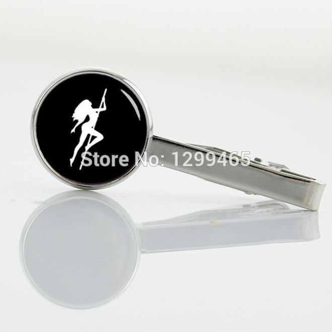 Wholesale sex girls stripper Tie pin New Elegant Design Men Tie Clips Decoration male pole dance metal clips T 490