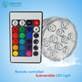 10Led RGB Submersible Led Underwater Light Battery Operated IP68 Waterproof Lamp for Swimming Pool Wedding Party Celebration