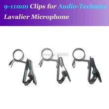 Spare Replaceable 9mm-11mm Size Metal Clips Mic Clip for Audio Technica etc. Lavalier Lapel Microphones
