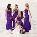 Cheap Bridesmaid Dresses Mermaid Long Cheap Bridemaid Dress Satin Elegant Formal Party Gowns Purple Robe Demoiselle D'honneur