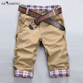 2017 Marca dos homens Casual Calças Curtas Verão Shorts Da Manta de Algodão de linho De Carga De Fitness Calções Polo Pantalones Cortos M-XXXL