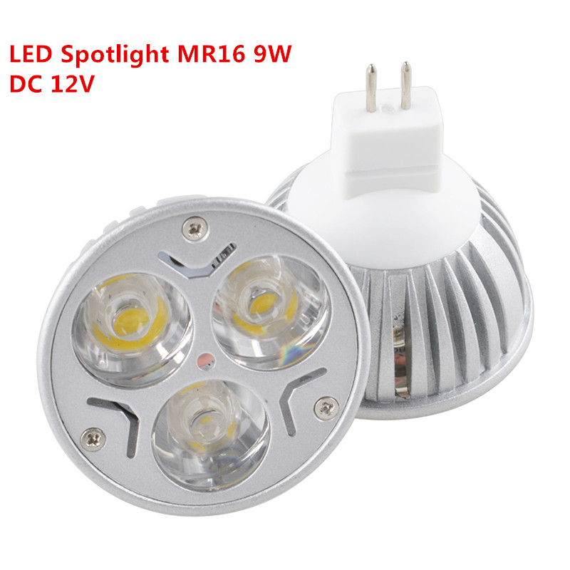 10PCS New Dimmable MR16 9W EPISTAR LED Light Spotlight Warm White ...