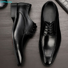 QYFCIOUFU 2019 Handmade Hot Designer Fashion oxford shoes for men Wedding Party formal shoes Genuine Leather Mens Dress Shoes christia bella fashion handmade formal mens dress shoes genuine leather spikes studded zebra men s evening wedding party shoes