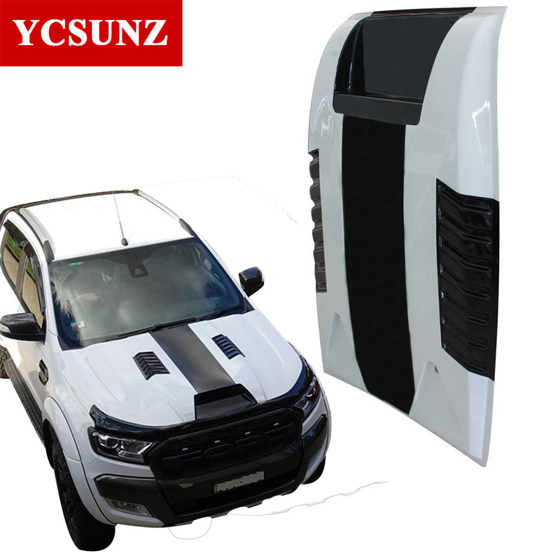 Car Accessories Bonnet Scoop Hood For Ford Ranger T6 2012 2013 2014 Wildtrak ABS Material