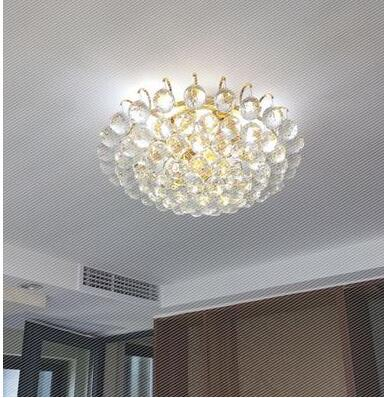 restaurant entrance hall balcony aisle entry Led ceiling crystal living room lights round European corridor hall bedroomCL цепочка