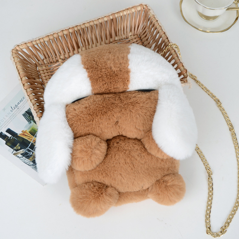 Billtera 2018 Zipper Plush Dog Shoulder Bag 4 Colors Fashion Crossbody Messenger Bag Faux Fur Shoulder Bags for Women on Sale