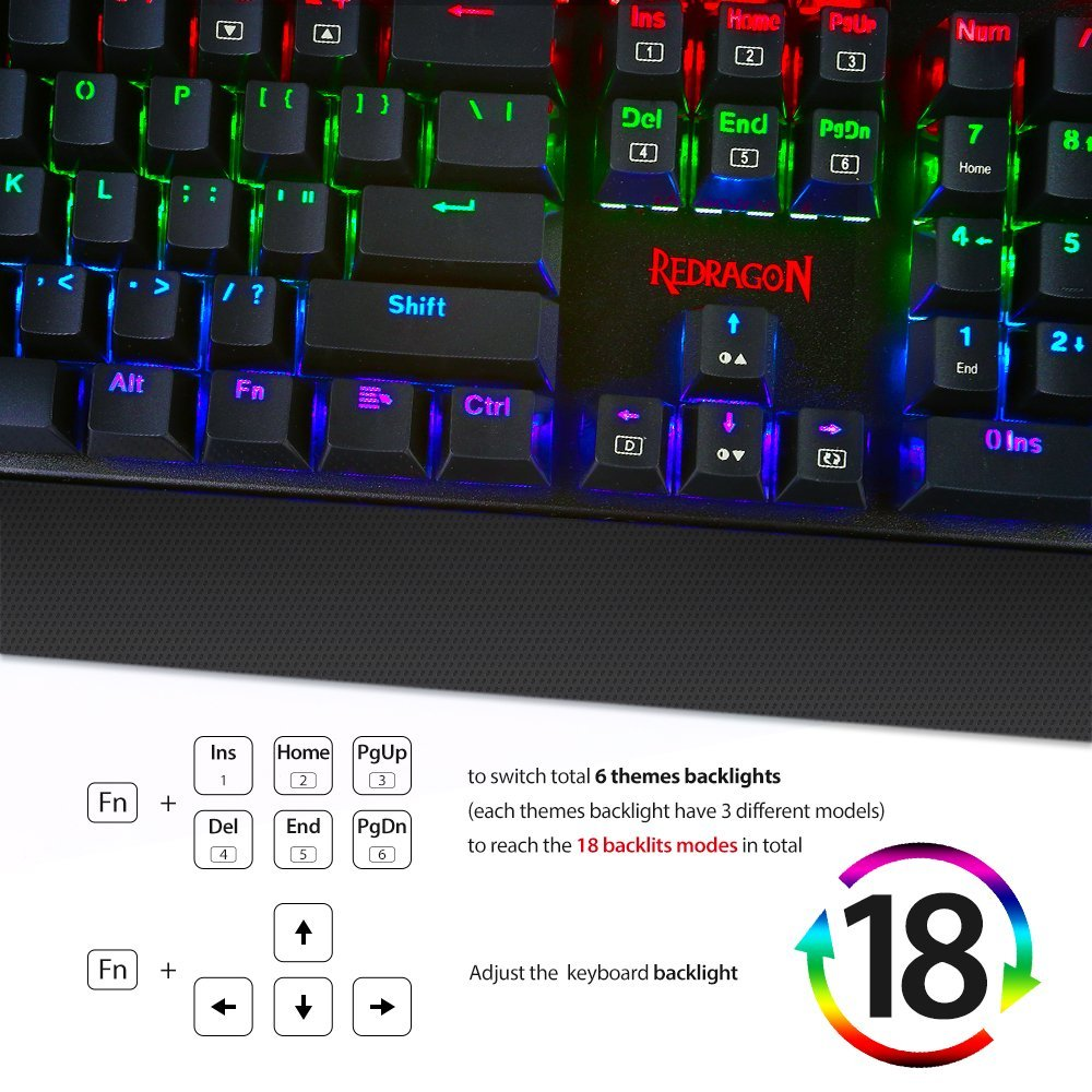 Redragon K557 KALA RGB LED-es háttérvilágítású teljes méretű - Számítógép-perifériák - Fénykép 3