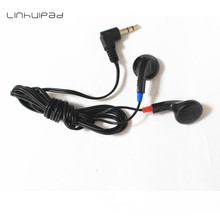 Black stereo earbuds DE-05/Dispisable earbuds/headset / Cheap for tourist bus