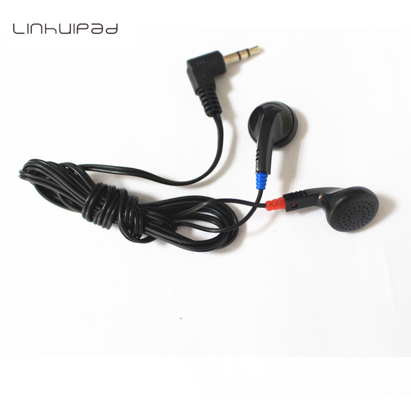 Linhuipad DE-05 Cheap earbuds airline disposable earphones for school ,hospital ,airlines 500pcs/lot image