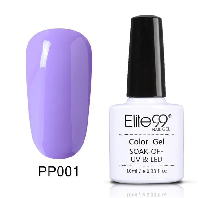 Elite99 Lila Serie Reine Farbe Lack Semi Permanent Nude Nagel Gel Emaille Gel Polish Lack Tränken Weg Vom UV LED Nagel kunst Design