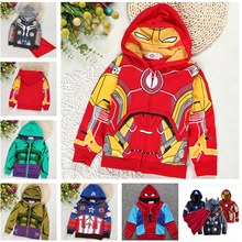 Fashion Marvel Hero Spring Children Coat Autumn Kids Jacket Boys Outerwear Coats Active Boy Windbreaker Baby Clothes Clothing недорого