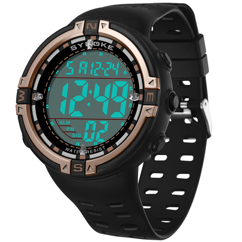 SYNOKE Men Digital Watches Multi Functional Outdoor Sports Waterproof Running Seconds Large Dial Electronic Luminous Male Clock(China)