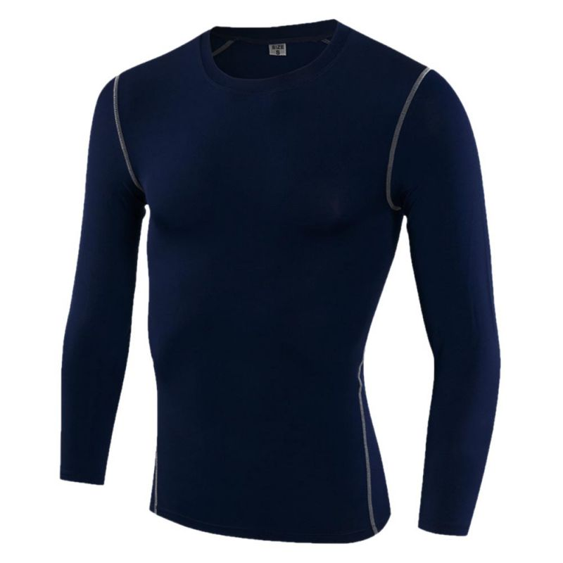 2018 Mens Winter Riding Cycling Fitness Bodybuilding Quick-drying Tights Long Sleeve Tops Outdoor Bikes Elastic Sweatshirts