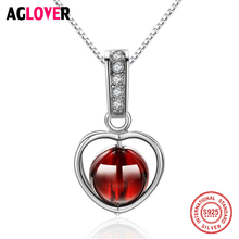 925 Sterling Silver Necklace Woman Fine Jewelry Dance Natural Stone Heart Pendant Necklaces For Wedding Engagement недорого