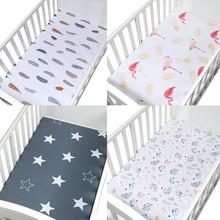 Постельные принадлежности для детской кроватки, размер 120*65 см, мягкая, дышащая, для новорожденных, для кроватки, простыня, матрас для детской кровати, покрывало, с рисунком, для новорожденных