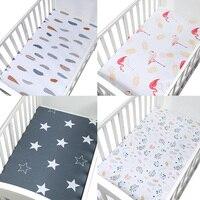 Постельные принадлежности для кроватки размер 120*65 см мягкая дышащая детская кроватка для младенца простыня детский наматрасник Potector мульт...