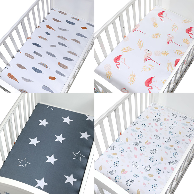 Bedding For Cot Size 120*65cm Soft Breathable Newborn Baby Crib Fitted Sheet Baby Bed Mattress Cover Potector Cartoon Newborn