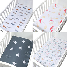 Bedding For Cot Size 130*70cm Soft Breathable Newborn Baby Crib Fitted Sheet Baby Bed Mattress Cover Potector Cartoon Newborn