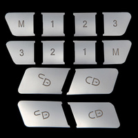 12pcs ABS Seat Memory Lock Unlock Switch Button Cover Trim For Mercedes Benz A B CLA/GLA E Class W212 GLK/GLE/ML/GL