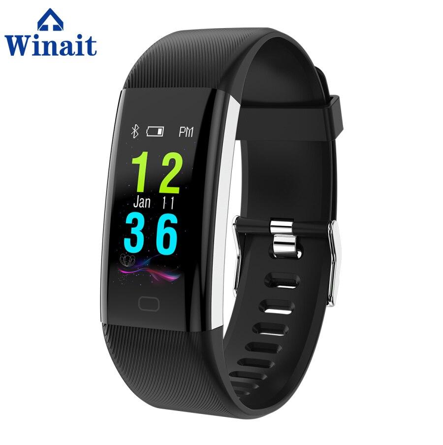 Winait F07 ip67 bracelet de sport étanche, affichage couleur/fréquence cardiaque/pression artérielle/oxygène sang numérique intelligent poignet bande fitness - 6