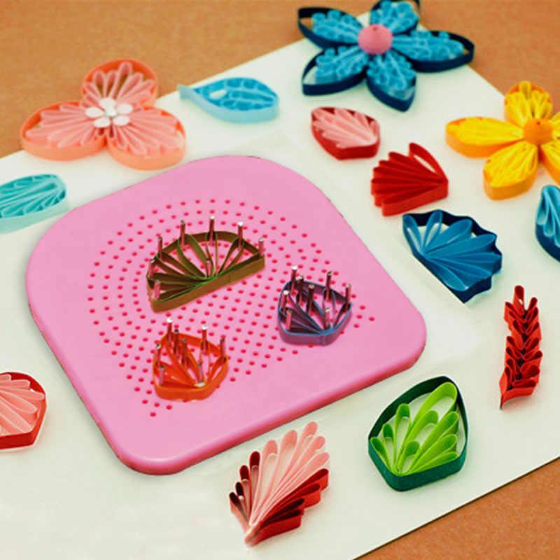 針板紙折りたたみ 20 根ギフト DIY 紙クイリングツールグリッドガイド手作り紙クラフトツール
