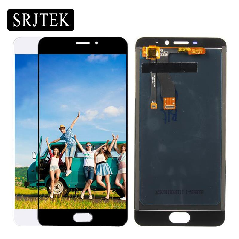 Srjtek LCD For Meizu M5 Note M621H <font><b>M621Q</b></font> M621M M621C Display Touch Screen Digitizer Assembly/Frame 5.5'' Black/White image