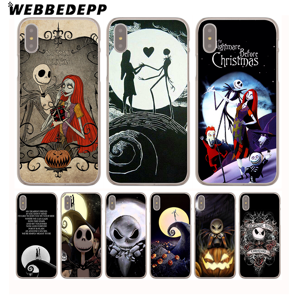 Christmas Sally And Jack Skellington Hard Phone Case For Iphone X ...