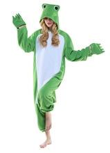 Adult Anime Jumpsuits Pajamas Animal Green Frog Men Women Sleepwear Jumpsuits Sleepsuit One-Piece Halloween Cosplay Costumes