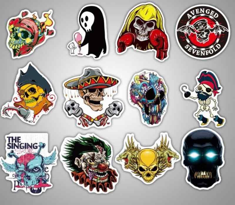 100 pçs/lote Adesivo Para Laptop Bagagem Mala Horror Grafite Skate Carro LEGAL À Prova D' Água Adesivos Pegatinas Infantiles