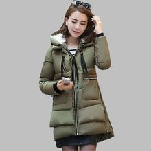 Women Military Winter Jacket Latest Fashion Hooded Down jacket Thick Warm Cotton Coat Loose Large size Ladies Outerwear OK260