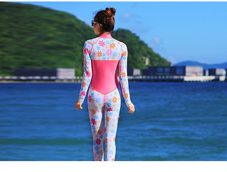 ELECTRI Combinaison De Plong/ée Haut De Maillot De Bain /à Manches Longues Anti-UV pour Femmes Maillot De Bain V/êtement Plong/ée V/êTements De Surf Chauds Contre Le Soleil