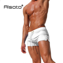 ALSOTO New Men Swimwear Sexy swimming trunks sunga hot swimsuit mens swim briefs Beach Shorts mayo sungas de praia homens