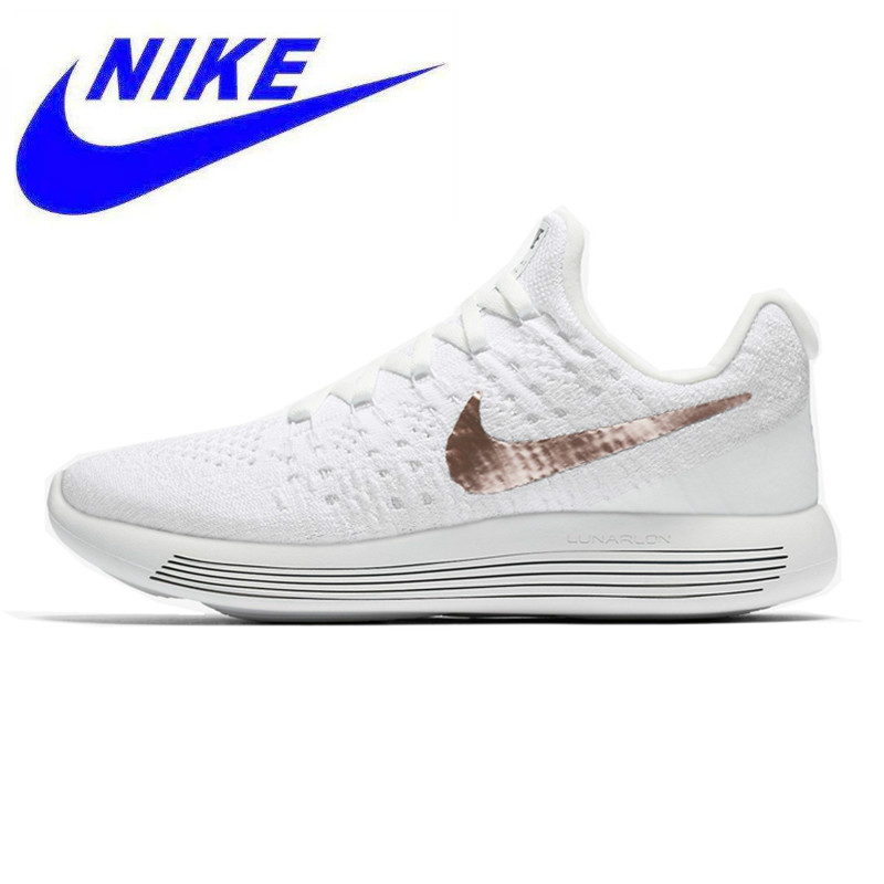 pretty nice c6858 bd986 Detail Feedback Questions about Nike LunarEpic Low Flyknit Men s Running  Shoes, Wear resistant Shock Absorption Breathable Lightweight, White 904743  100 on ...