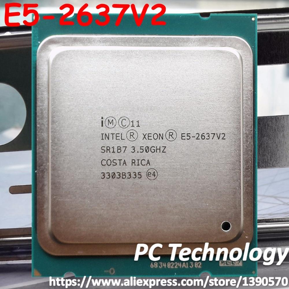 Original Intel Xeon E5 2637V2 CPU 3 50GHZ 15MB 130W 4 cores LGA2011 E5 2637 V2