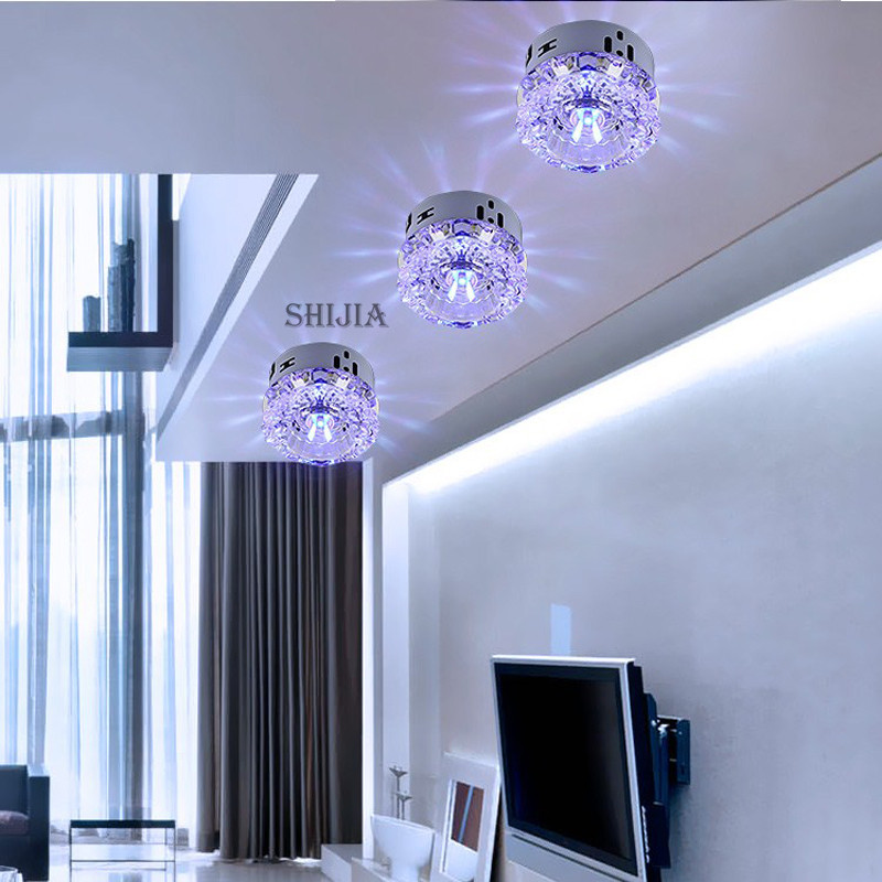 Flush Mount Small LED Ceiling Light for Art Gallery Decoration Front ...