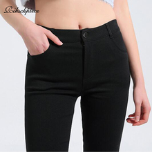 Rihschpiece Autumn Plus Size 5XL Leggings Women Pants Punk Jeggings Black Fashion Pocket High Waist Legging Trousers RZF1497