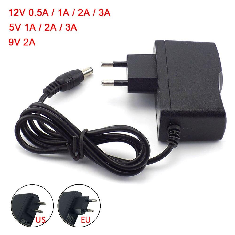 100-240 В переменного тока в постоянный преобразователь 12 в 9 в 5 В 1A 2A 3A 0.5A адаптер питания Трансформатор зарядное устройство 5,5 мм x2.1 2,5 мм для CCTV...