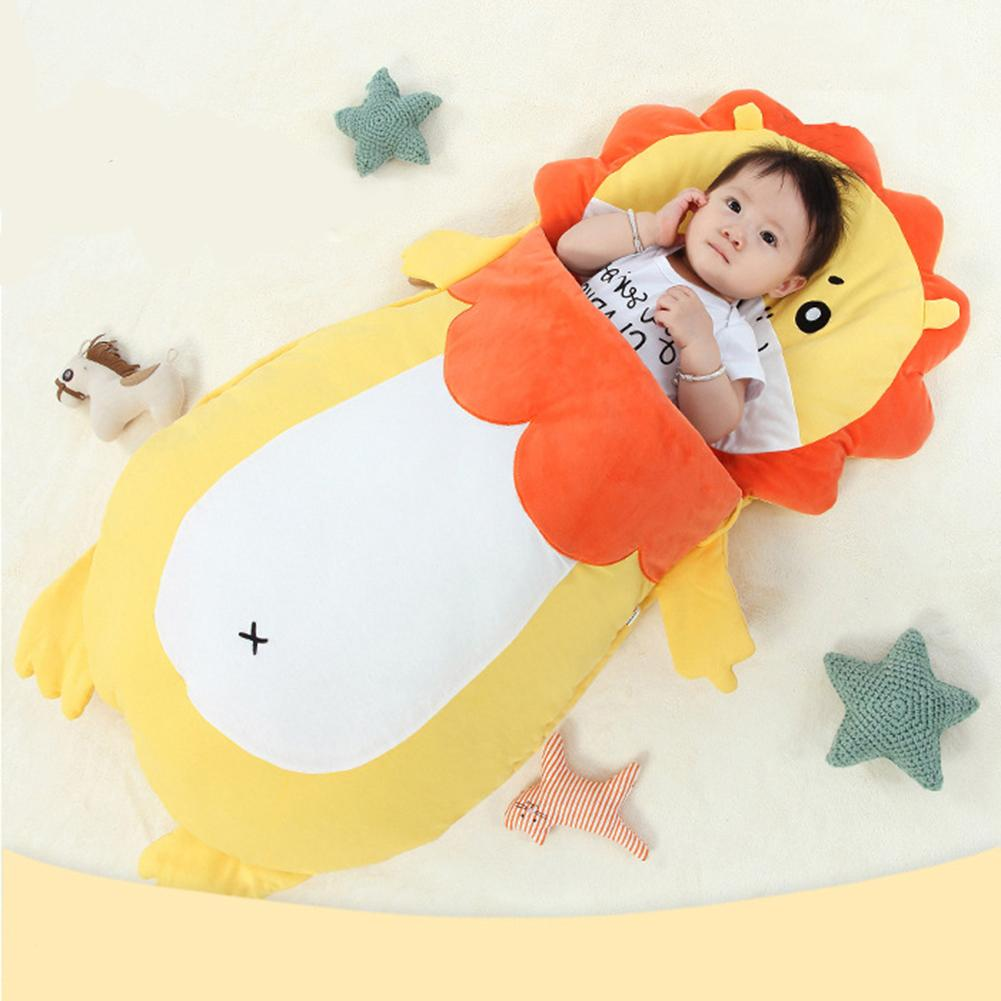 Infant Sleeping Bag Baby Anti-Kicking Cool-Proof Quilt Cartoon Lion Pattern Outdoor Autumn And Winter Quilt fashionable pink cartoon lion and handgun pattern 9 5cm width tie for men
