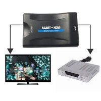 Scart To HDMI Converter 1080P Audio Video Adapter For HDTV Sky Box STB For Smartphone HD