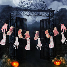 Halloween Creepy Broken Hand and Legs Hanging Banner Outdoors Halloween Decor Prop Accessory(China)